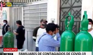 Familias de otras ciudades llegan a Chiclayo en busca de oxígeno