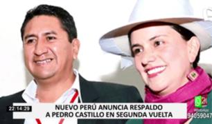 Nuevo Perú: movimiento fundado por Verónika Mendoza anunció respaldo a Castillo