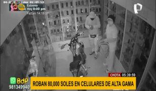 Chota: roban celulares de alta gama valorizados en 80 mil soles