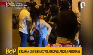 Fiesta covid en Chosica: jóvenes escapan para no ser detenidos por la policía