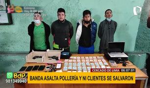 Cercado: cuatro delincuentes roban pollería y se llevan 4,000 soles