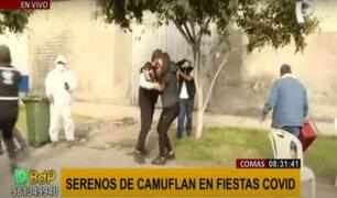 ¡Adiós fiestas covid! Serenos se camuflan para detener a infractores en Comas