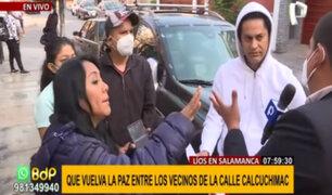 Vecinos enfrentados en Salamanca: reportero de Panamericana también fue agredido en el rostro