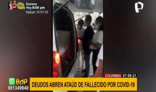 Familia abre ataúd de fallecido por covid-19 para darle el último adiós