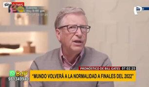 """Bill Gates pronostica fin de la pandemia: """"regresaremos a la normalidad a finales de 2022"""""""