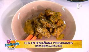 D'Mañana te enseña a preparar un delicioso snack: alitas BBQ