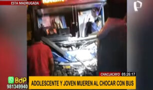 Chaclacayo: dos muertos y 2 heridos deja choque de auto contra bus