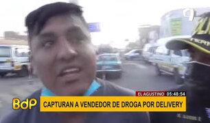El Agustino: detienen a sujeto que llevaba marihuana por delivery