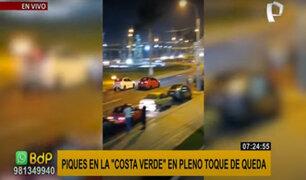 Denuncian piques ilegales en la Costa verde en pleno toque de queda