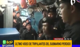 Revelan último video de tripulantes de submarino desaparecido en Indonesia