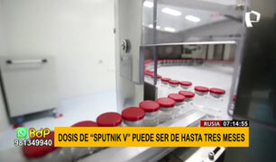 Rusia: segunda dosis de Sputnik V se puede inocular hasta tres meses después