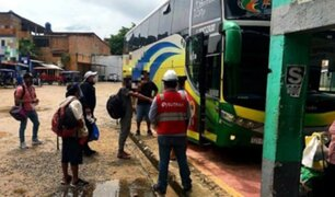 San Martín: realizan amplio operativo contra la trata de personas en terminal terrestre