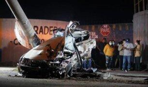 Chaclacayo: pasajeros de bus resultaron ilesos tras violento impacto de auto