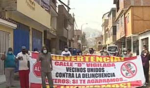 SJL: vecinos cansados de la delincuencia amenazan con linchar a ladrones