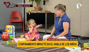 Inglaterra: confinamiento afectó desarrollo del habla en los niños, según estudio