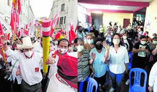 Candidatos Castillo y Fujimori realizan grandes mítines sin respetar protocolos sanitarios