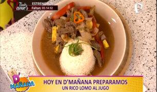 Cocina D'mañana: Prepara un exquisito lomo al jugo de forma rápida y sencilla