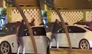 Surquillo: delincuente armado asalta a una familia al interior de su auto