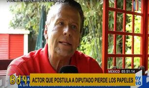 México: actor que postula a la alcaldía insulta en vivo a sus detractores