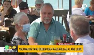 EEUU: ciudadanos vacunados ya no tendrán que usar mascarillas al aire libre