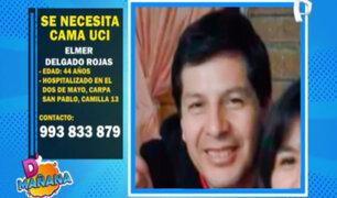 Piden ayuda para conseguir cama UCI para hombre internado en hospital Dos de Mayo