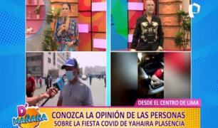 Yahaira Plasencia: Ciudadanos opinan sobre cantante por asistir a fiesta covid