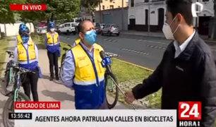 """""""Escuadrón Ciclista"""": refuerzan labores de control de tránsito en Cercado de Lima"""