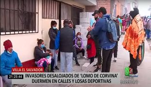 VES: Invasores que fueron desalojados permanecen en lozas y avenidas cercanas a Lomo de Corvina