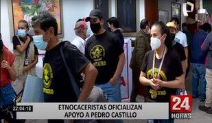 Paredes Terry y etnocaceristas anuncian apoyo a Pedro Castillo