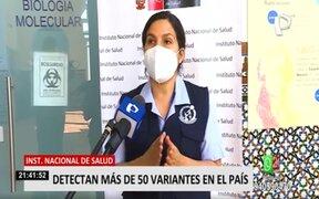 COVID-19: INS identificó 53 variantes distintas en el Perú