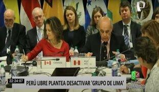 Perú Libre desactivará el Grupo de Lima y expulsará a la USAID en eventual Gobierno