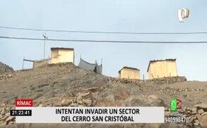 Cerro San Cristóbal: mujeres intentan invadir sector destinado a la construcción del teleférico