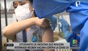 COVID-19: inició inmunización de estudiantes de medicina que realizan internado
