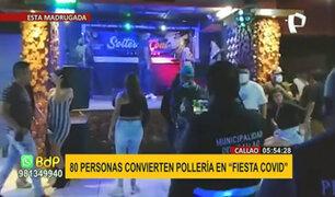 Callao: intervienen a 80 personas que festejaba fiesta COVID en pollería