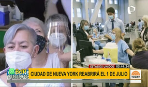 EEUU: Nueva York reabrirá completamente el 1 de julio