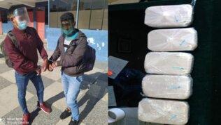 Arequipa: capturan a dos sujetos que transportaban 8 kilos de cocaína