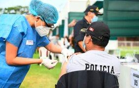 PNP: Más de 121 mil efectivos ya fueron vacunados contra la Covid-19
