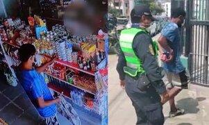 Detienen a sujeto que robaba cervezas en minimarkets de Surco