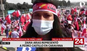 """Elecciones 2021: Zaira Arias encabezó la denominada """"Caravana del Lápiz"""" por Villa El Salvador"""