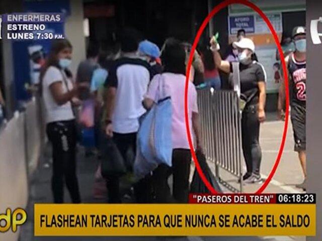 """Línea 1 del Metro de Lima: """"Flashean"""" tarjetas para que siempre tengan saldo"""