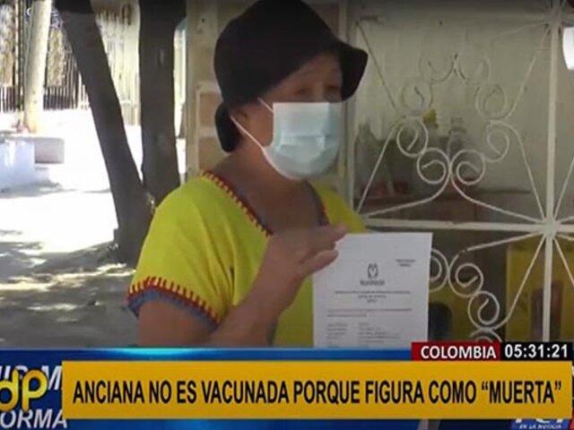 ¡Insólito! anciana no puede vacunarse porque figura como fallecida