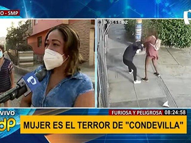 SMP: peligrosa mujer siembra el terror en la urb. El Rosario