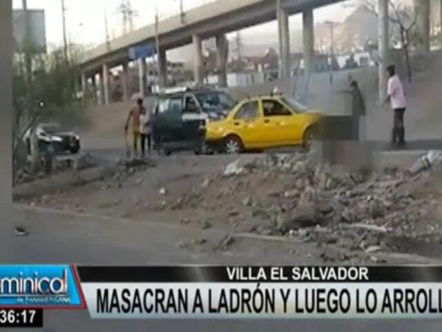 VES: masacran a ladrón y taxista lo arrolla para evitar su fuga