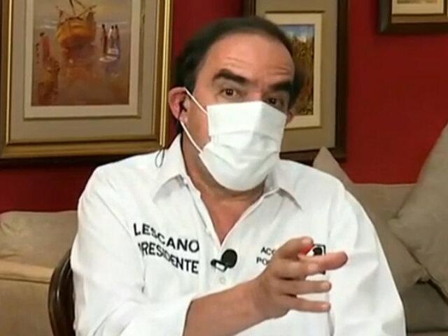 """Lescano sobre segunda vuelta: """"Nos resulta difícil apoyar una u otra opción"""""""