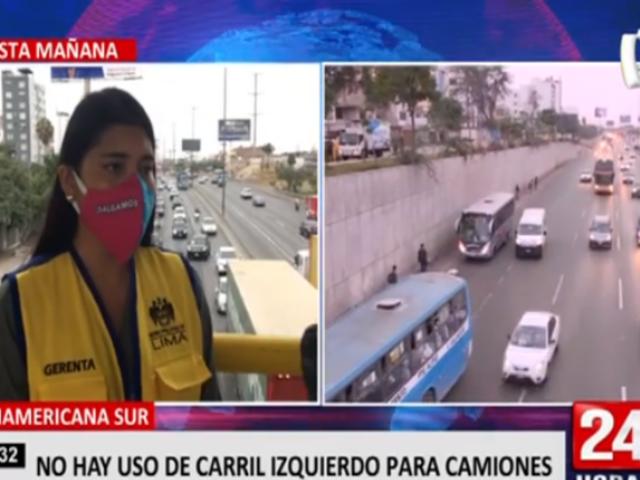 Panamericana Sur: retorno de vehículos podrán utilizar carril preferencial hasta hoy
