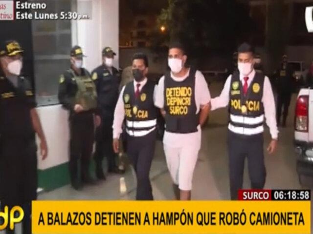 Balacera en Surco: detienen a hampón que robó camioneta a mujer