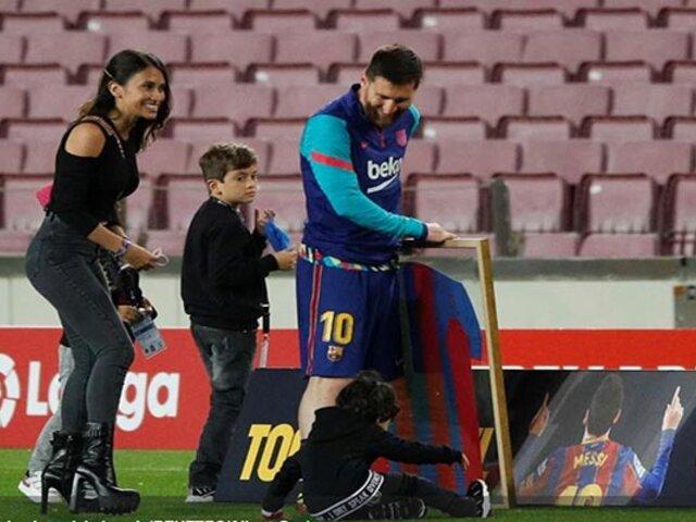 Homenaje a Messi fue opacado por aparición de su esposa Antonela