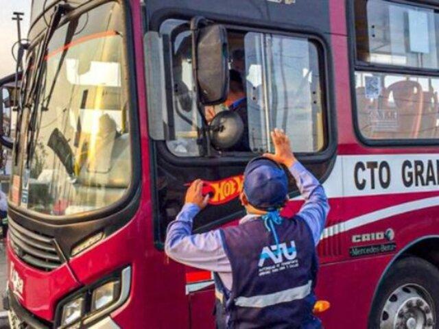 Autoridad de Transporte Urbano descartó despidos masivos de trabajadores