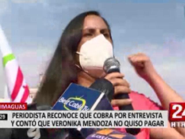 Periodista quiso cobrar a Verónika Mendoza por una entrevista en Yurimaguas