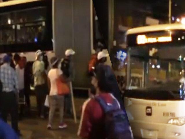 Desbloquean vía del Metropolitano luego de 13 horas
